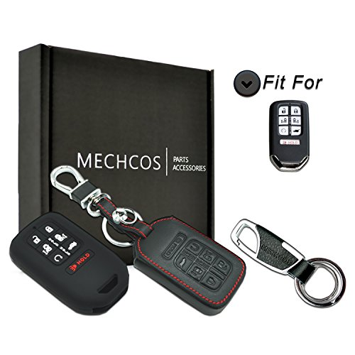 MECHCOS for 2018 Honda Odyssey Elite EX EX-L LX Touring 7buttons Leather Keyless Entry Remote Control Smart Key Fob Cover Pouch Bag Jacket Case Protector Shell ()