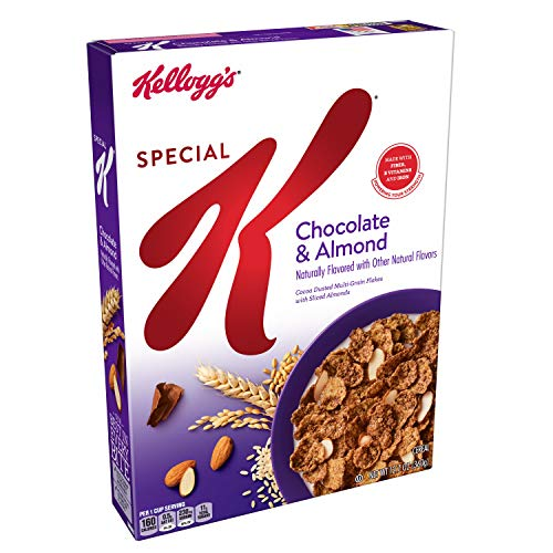 Breakfast Cereal, Chocolate and Almond, Low Fat, 12.7oz Box ()
