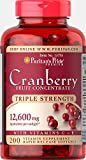 Puritans Pride Triple Strength Cranberry Fruit Concentrate 12,600 Mg, 200 Count