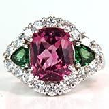 Huge 925 Silver White Topaz Ruby Woman Jewelry Wedding Engagement Ring Size 6-10 (8)