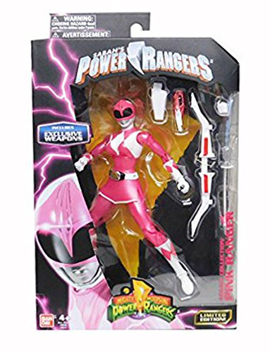 Mighty Morphin Power Rangers Legacy Collection Limited Edition 6.5 Inch Pink Ranger with Metallic Finish and Exclusive - Rangers Power Mighty Weapons Morphin
