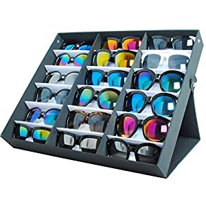 Moldiy Sunglasses Display box, Hold 18 pieces, Also for Watches and Jewelry