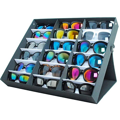 Moldiy Sunglasses Display box, Hold 18 pieces, Also for Watches and - Array Sunglasses