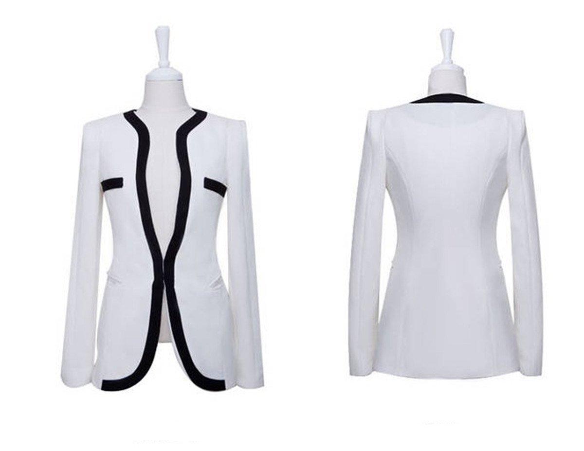 xhorizon TM FLK Women's Slim Lapel Cotton Office Blazer Suit Coat T116
