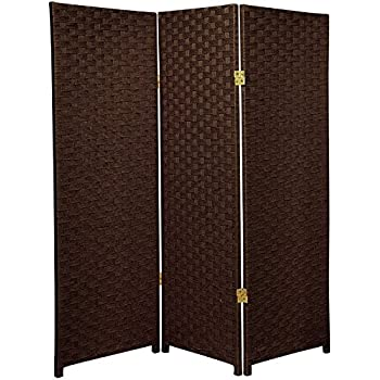 Amazoncom ORIENTAL FURNITURE 4 ft Tall Woven Fiber Room Divider