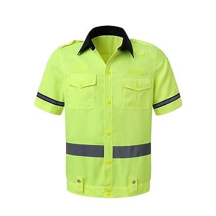 Traje Reflectante de Verano, Camisa de Trabajo Nocturno ...