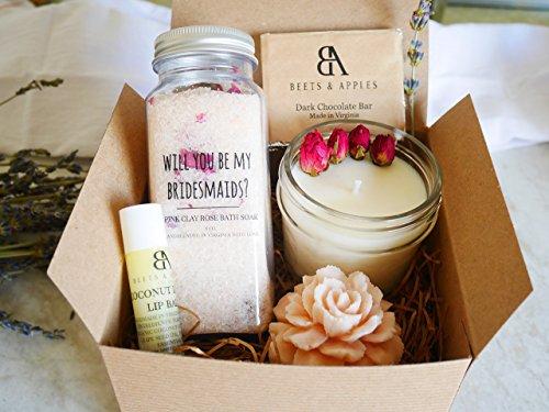 SHIP NEXT DAY - Bridesmaid Proposal Gifts, Bridesmaid Proposal Gifts Sets, Will you be my BRIDESMAID Gift - Rose Spa Ask Bridesmaid Gifts by Beets & Apples