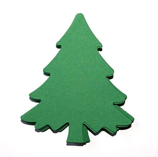Christmas Tree Cut Out.Christmas Tree Die Cuts 25 Count