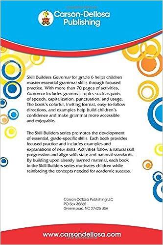 Amazon.com: Grammar, Grade 6 (Skill Builders) (0044222208820 ...