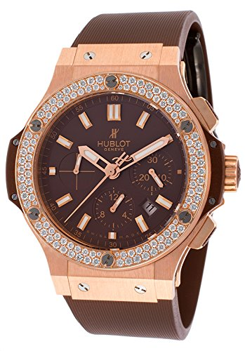 Hublot Men's Big Bang Automatic Chronograph Diamond Brown Rubber ()