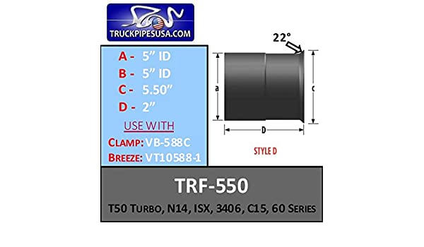 Amazon.com: T50,N14, ISX, 3406, C15 Turbo Repair Flange 5.5