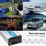 Power Inverter Pure Sine Wave 1200Watt 12V DC to