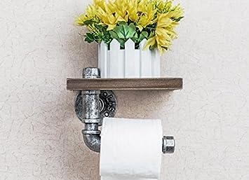 PEIWENIN Industrielle Windmauer Badezimmer Toilette Regal Badezimmer ...