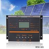 Ocamo LCD Solar Controller Photovoltaic Solar Panel Charging Discharging Controller 60A PWM 12V 24V