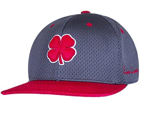 ブラッククローバー新しいフラットLuckyメッシュ2グレー/レッドFlatbillフィットL/XLゴルフ帽子/キャップ