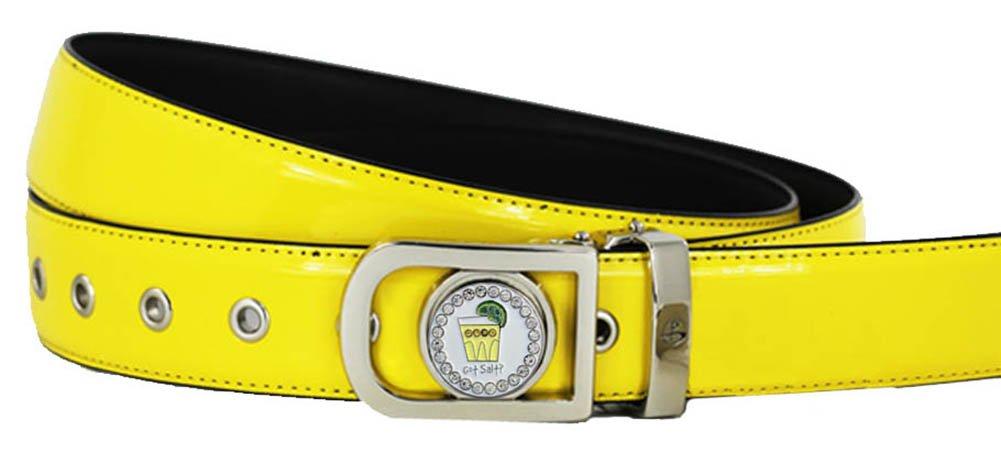 Giggle Golf Women's Ball Marker Belt Large Yellow