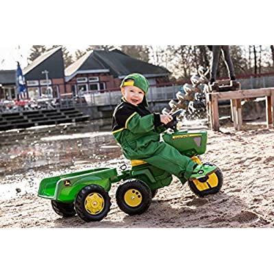 Rolly John Deere 3 Wheel Trac with Trailer Ride On: Toys & Games