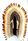 Indian Inspired Headdress Native American Style Feather Headdress - XL SIZE-36''L OMA BRAND