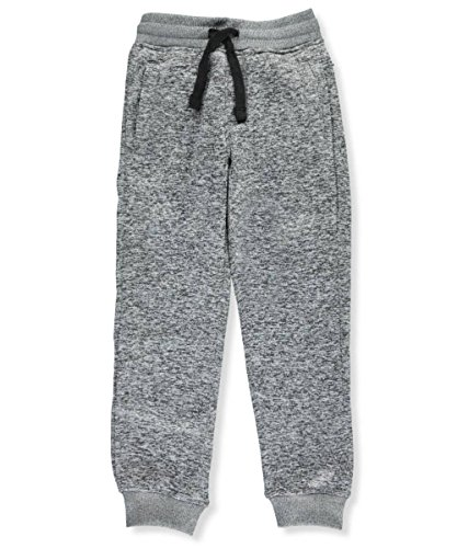 Southpole Big Boys' Jogger Fleece Pants In Basic Colors, Marled Grey(New/Logo Patch), X-Large