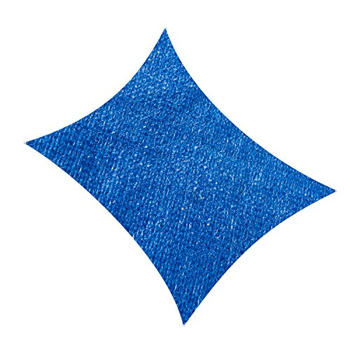 Cool Area Square Oversized 16 5 x 16 5 Sun Shade Sail, UV Block Patio Sail Perfect for Outdoor Patio Garden Swimming Pools in Color Blue
