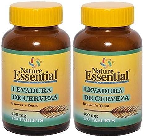 Levadura de Cerveza 400mg 150 Tabletas. Nature Essential (Pack 2u.): Amazon.es: Salud y cuidado personal