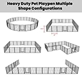 FXW Dog Fence Outdoor, 24 Panels 32Inch Height