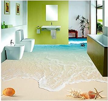 DDBBhome Schöne Seestückwellenstrand-Muscheln und Starfish 3D Boden ...