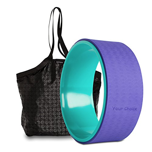 Your Choice Dharma Yoga Wheel For Stretching Increasing Flexibility, Massage Plus Pose Guide book And Bag 12.8