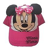 Disney Minnie Mouse Girls Baseball Cap - Pink