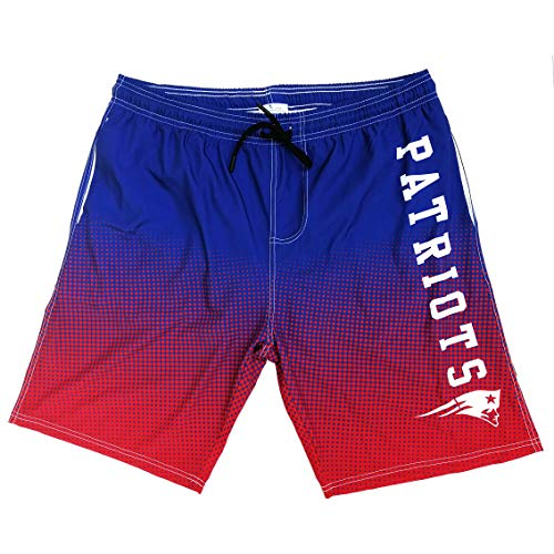 NFL Men's Swim Trunks Quick Dry Beach Shorts with Pockets (New England Patriots, M)