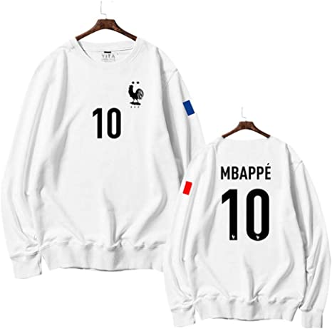 WARMHEAT Camisa Conmemorativa del Campeonato de la Copa del Mundo 2018 del Equipo de Francia, Cuello Redondo, Jersey Suave,MBAPPE,S(155-160CM): Amazon.es: Deportes y aire libre