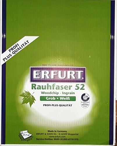 6 Rollen Erfurt Rauhfaser 52 Pro 33,50 x 0,53 m Tapete 106,5m²