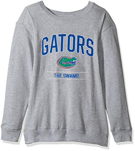 NCAA Florida Gators Womens NCAA Women's Light Weight Oversized Fleece, Small, Oxford