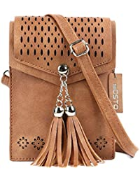 Women Small Crossbody Purse, Tassel Cell Phone Purse...