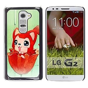 Be Good Phone Accessory // Dura Cáscara cubierta Protectora Caso Carcasa Funda de Protección para LG G2 D800 D802 D802TA D803 VS980 LS980 // Cute Red Fox