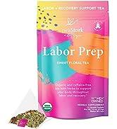 Pink Stork Labor Prep Tea: Sweet Floral, Red Raspberry Leaf Tea, Labor and Delivery + Postpartum ...