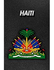 Haiti: Coat of Arms | Composition Book 150 pages 6 x 9 in. | College Ruled | Writing Notebook | Lined Paper | Soft Cover | Plain Journal