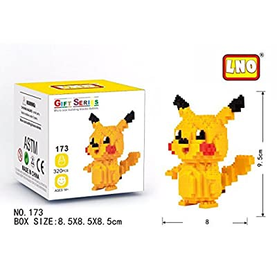 THTB Pokemon Building Block Set ca.3,94 inch Pikachu 1