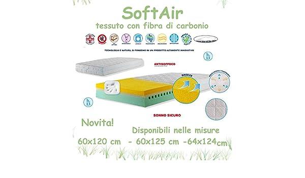 Colchón de Cuna Airsoft con tela de fibra de carbono Willy & Co. Alto 13 cm 64x124: Amazon.es: Bebé