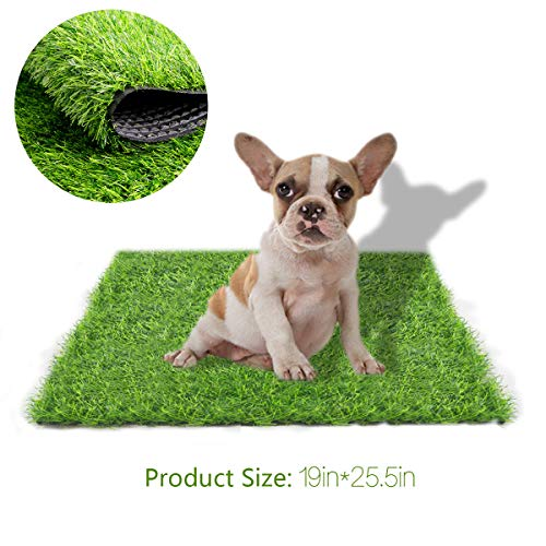 STARROAD-TIM Artificial Grass Rug Turf for Dogs Indoor Outdoor Fake Grass for Dogs Potty Training Area Patio Lawn Decoration (25.5 inches x 19 inches)