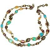 Sweet Romance Gemstone Garden Double Strand Necklace