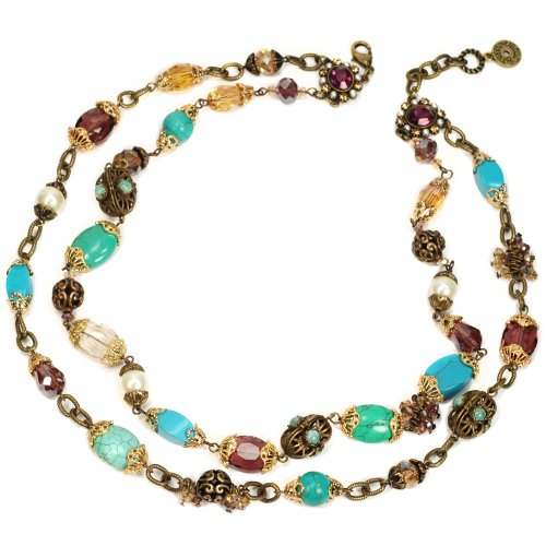 Sweet Romance Gemstone Garden Double Strand Necklace by Sweet Romance