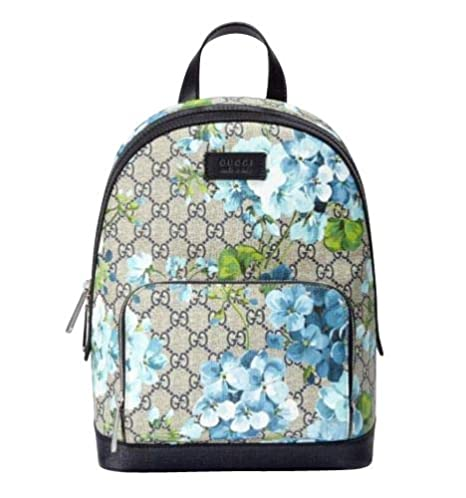 f743aa5cd53 Amazon.com  Gucci Unisex Beige Blue Bloom GG Coated Canvas Small Backpack  with Box 427042 8493  Clothing