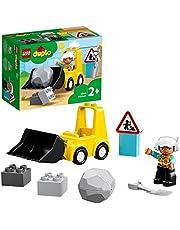 LEGO DUPLO 10930 Buldożer budowlany do budowania miniaturowej koparki; działająca zabawka konstrukcyjna dla dzieci od 2 roku życia (10 elementów)