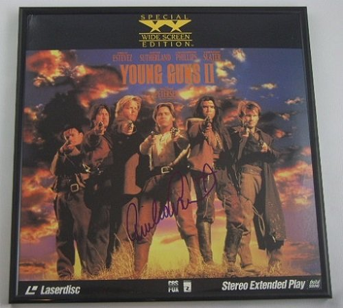 Young Guns Emilio Estevez Authentic Signed Autographed LaserDisc Movie Framed Loa