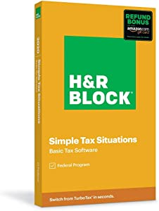 H&R Block Tax Software Basic 2020 with Refund Bonus Offer (Amazon Exclusive) (Key Card)