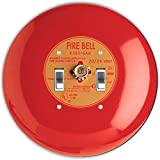 Rikki Knight RND-LSPDBL-95 Fire Alarm Round Design Double Toggle Light Switch Plate