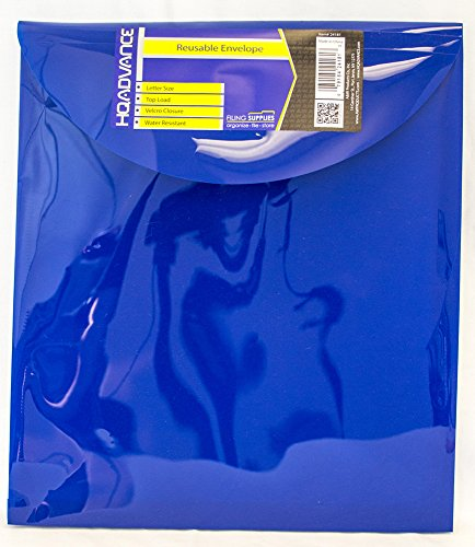 - HQ Advance Products Reusable Poly Envelope with Velcro Closure, Extra Large Letter, Top Load (24181)