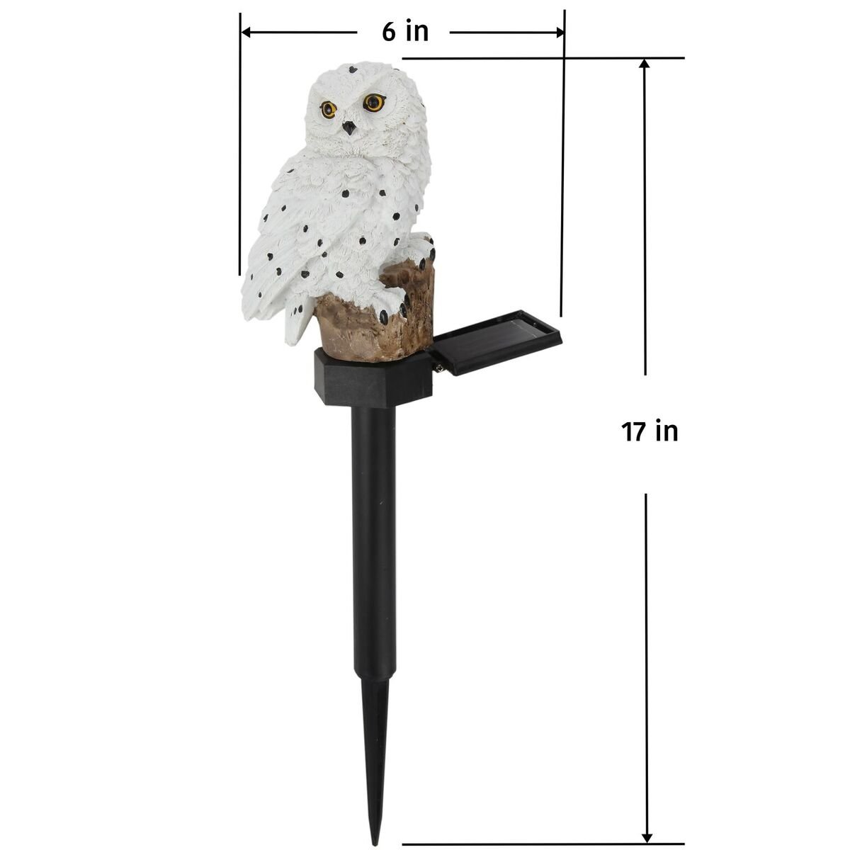 Trenton Gifts Weather Resistant Outdoor LED Solar Owl Light, Garden Stake | White by Trenton Gifts (Image #5)