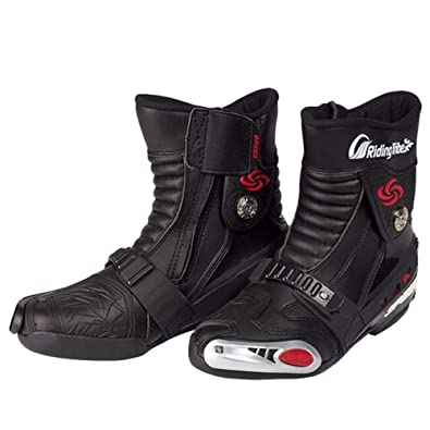 Motocicleta Fondo Ciclismo Botas La Armadura Compiten Impermeables Carreras Que Amazon es Zapatos Vintage Esquí Blindada De zx7t7f
